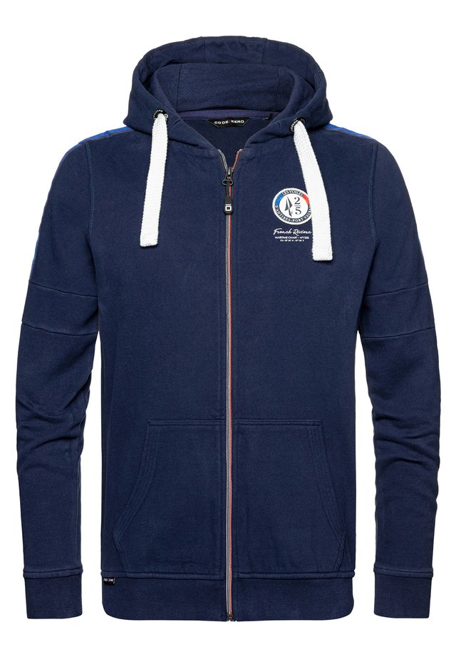 KAPUZENSWEATJACKE ANTIBES LIMITED ZIP SWEATER - Zip-up hoodie - navy
