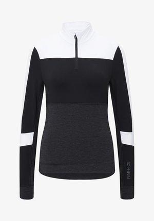 FIRST LAYER ESRA - Long sleeved top - schwarz/weiß/grau