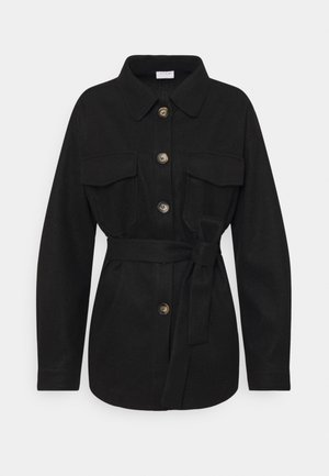 VIOLA BELT SHAKET - Krátký kabát - black