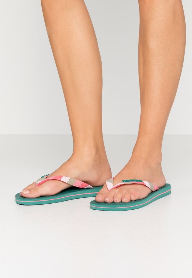 TOP VERANO - Chanclas de dedo - green leaf
