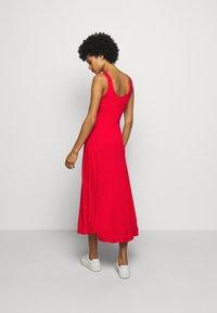 Polo Ralph Lauren - SLEEVELESS CASUAL DRESS - Žerzejové šaty - african red - 2