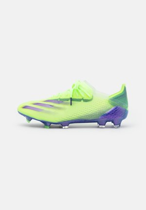 X GHOSTED.1 FOOTBALL BOOTS FIRM GROUND - Moulded stud football boots - signal green/energy ink/semi solar slime