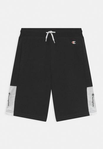COLOR BLOCK BERMUDA UNISEX - Sports shorts - black