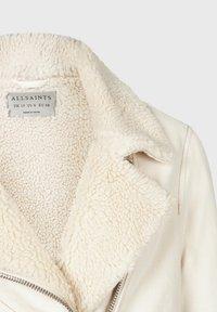 AllSaints - OVERSIZED DENIM BIKER - Denim jacket - white - 4
