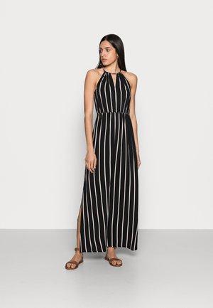 Maxi dress - black/beige