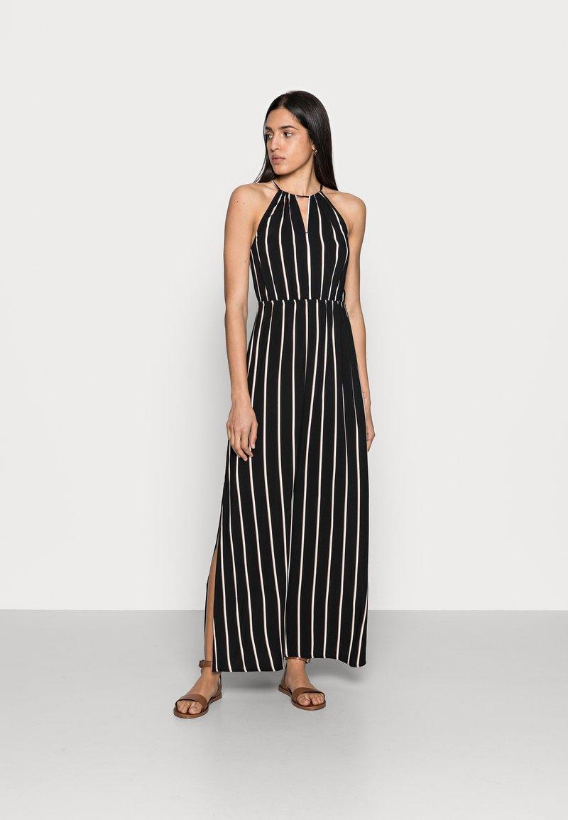 TOM TAILOR DENIM - Maxi dress - black/beige