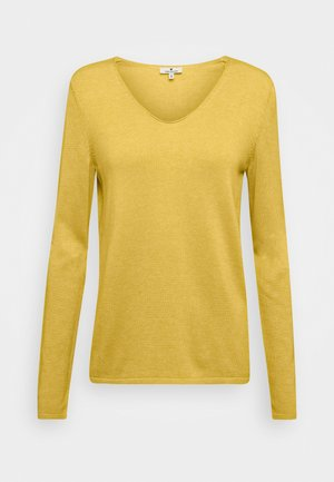 BASIC V NECK - Jumper - california sand melange