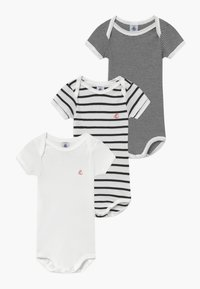 Petit Bateau - 3 PACK - Body - marshmallow/smoking - 0