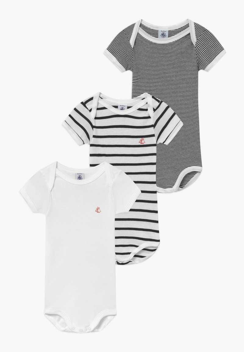 Petit Bateau - 3 PACK - Body - marshmallow/smoking