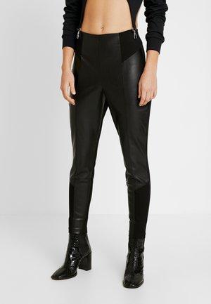 PONTE HYBRID RITA - Pantalones - black