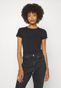 Anna Field - 2 PACK - Basic T-shirt - black/black - 2