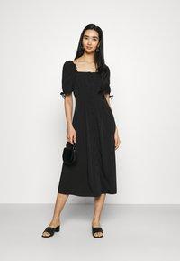 Fashion Union - BIATRRITZ MIDI DRESS - Day dress - black - 1