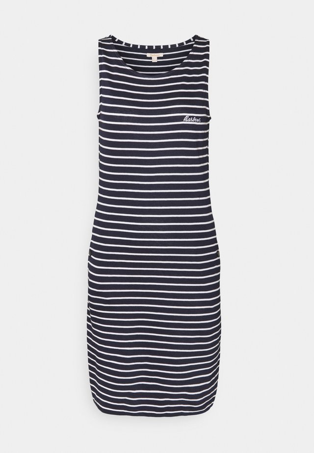 DALMORE STRIPE DRESS - Jersey dress - navy/white