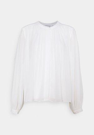 JOSEPHINE PLEAT DETAIL BLOUSE - Button-down blouse - porcelain