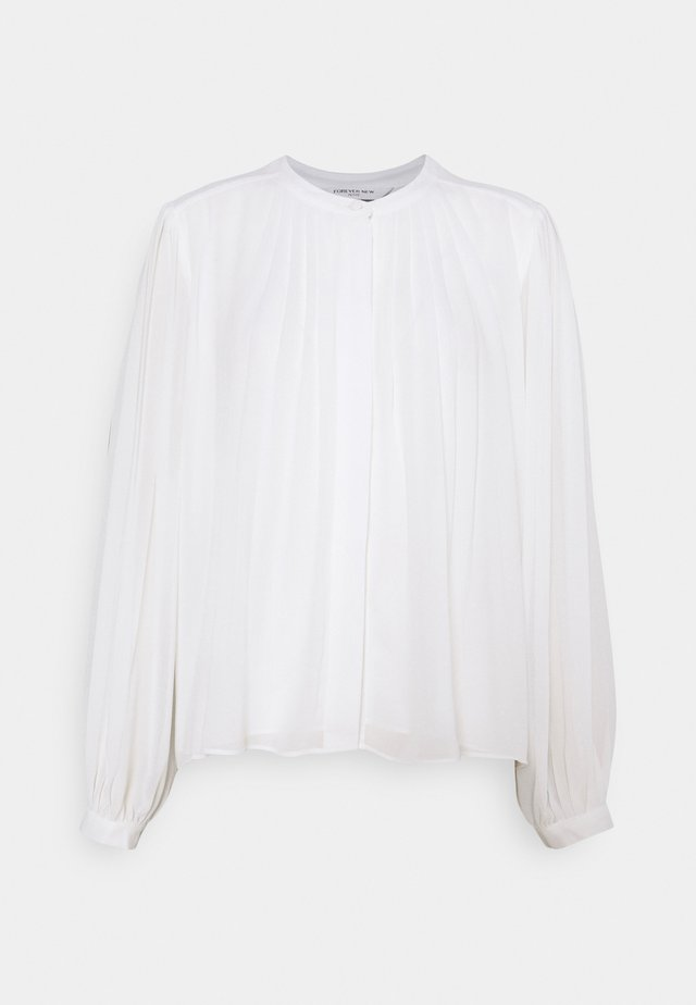 JOSEPHINE PLEAT DETAIL BLOUSE - Skjortebluser - porcelain
