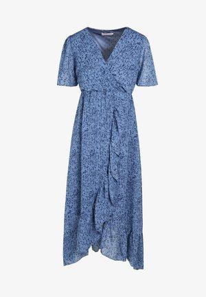 LONGUE PLUMETIS EFFET PEAU DE BÊTE - Korte jurk - blue