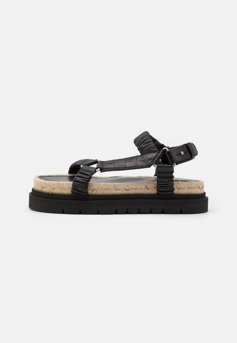 3.1 Phillip Lim - NOA STRAPPY PLATFORM SLIDE - Sandály na platformě - black