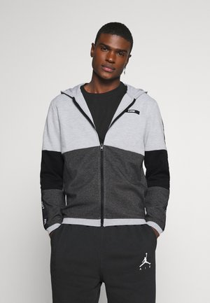 JCOKALLY ZIP HOOD - Chaqueta de entrenamiento - light grey melange