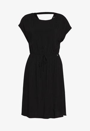 OVERCUT SHOULDER DRESS - Day dress - deep black