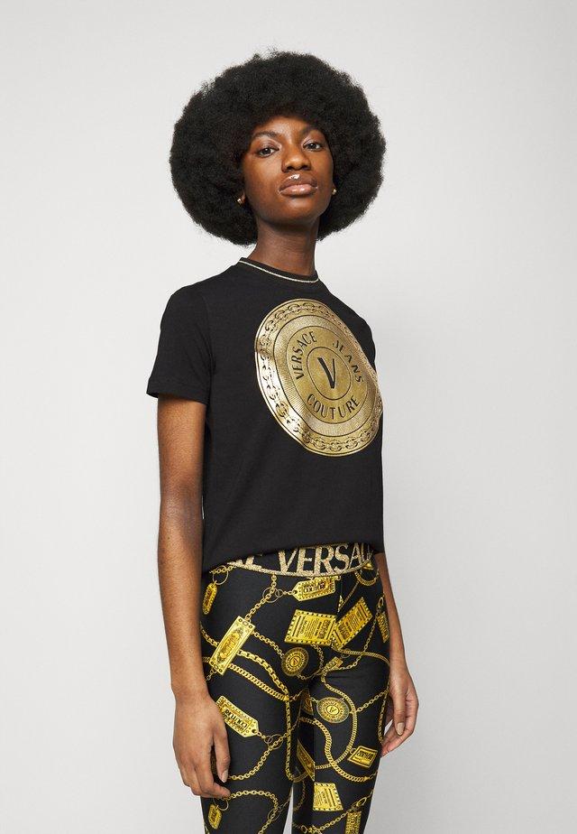 LADY - T-shirt imprimé - black/gold