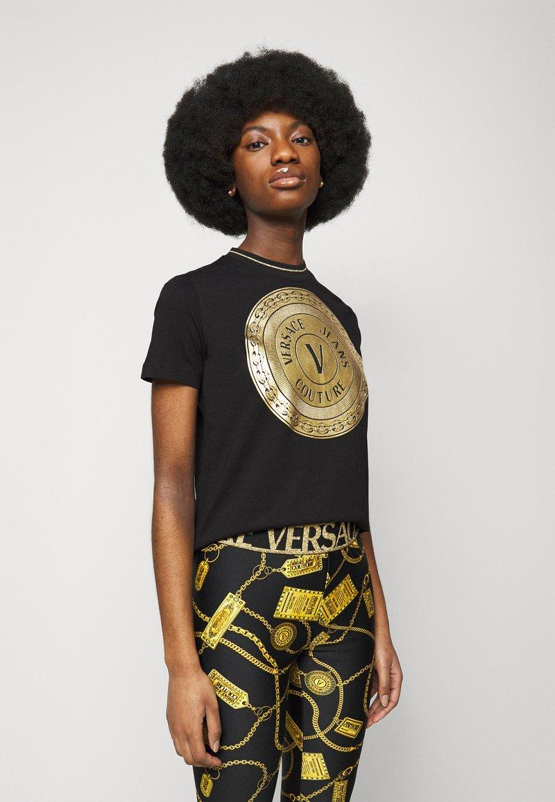 Versace Jeans Couture - LADY - Print T-shirt - black/gold