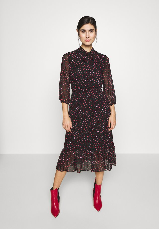 PLAIN PUSSYBOW FRILL DRESS - Sukienka letnia - pink