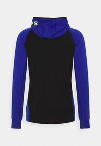 Mons Royale - TRAVERSE FULL ZIP HOOD - Training jacket - ultra blue/black - 10