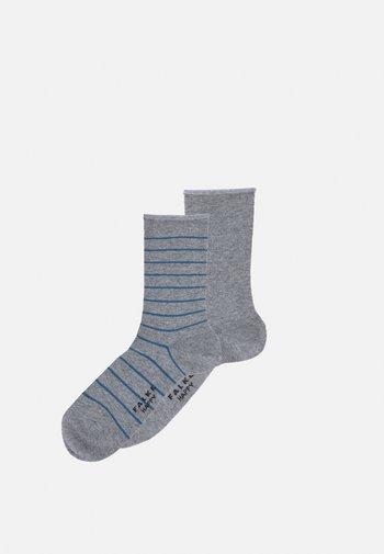HAPPY 2 PACK - Socks - light grey melange