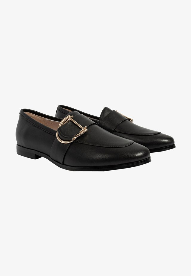 Loaferit/pistokkaat - black