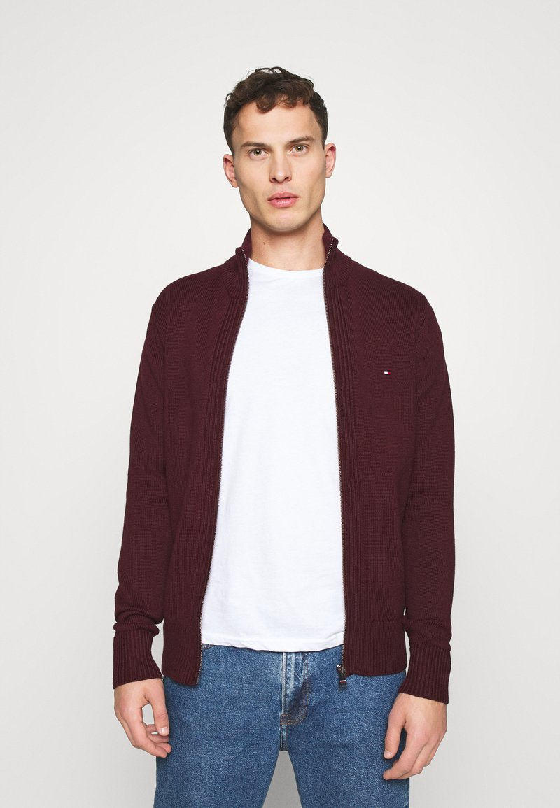 Tommy Hilfiger - CHUNKY ZIP THROUGH - Cardigan - red