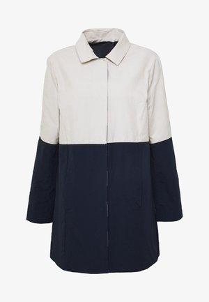 REVERSIBLE TRENCH - Short coat - navy