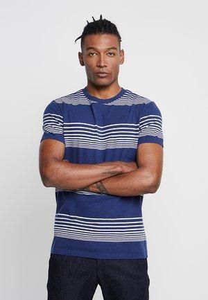 LOAM STRAIGHT - T-shirt print - imperial blue/milk stripe