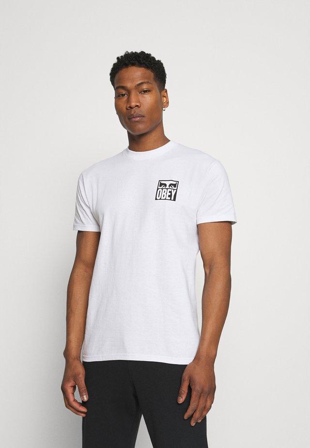 EYES ICON - T-shirt con stampa - white
