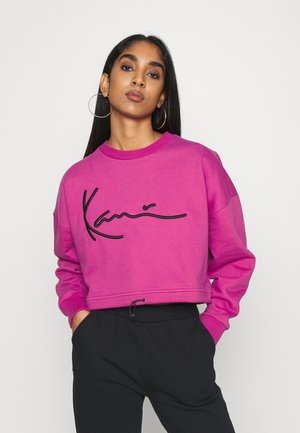 SIGNATURE CREW - Sweatshirt - dark pink