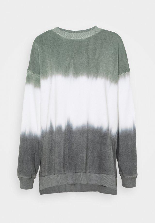 KI CREW TIE DYE - Sweatshirt - tan