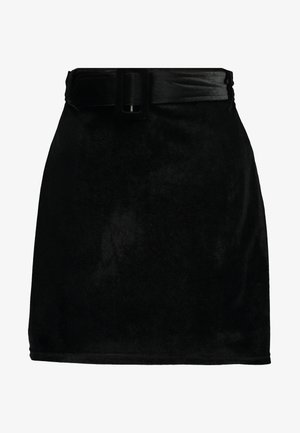 CANDY SKIRT FASHION BELTED - A-linjekjol - black