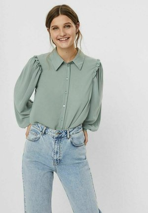 Button-down blouse - jadeite