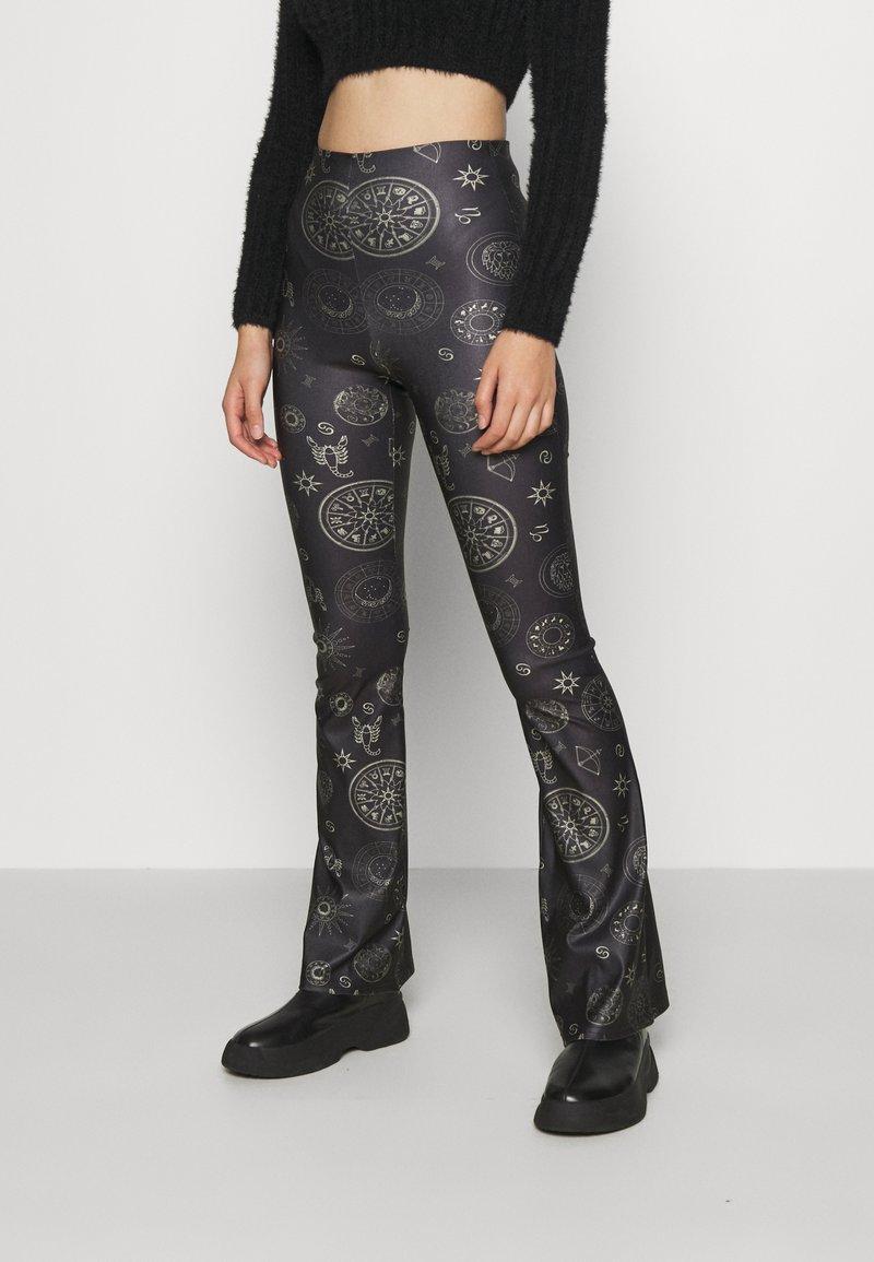 Topshop - ASTROLOGY FLARE - Leggings - Trousers - black