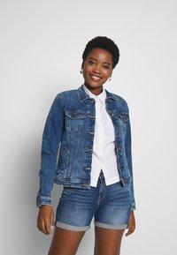 edc by Esprit - JACKET - Denim jacket - blue medium wash - 0