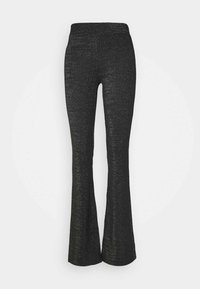 ONLY Tall - ONLPAIGE FLARED PANT - Trousers - black/gliter - 0