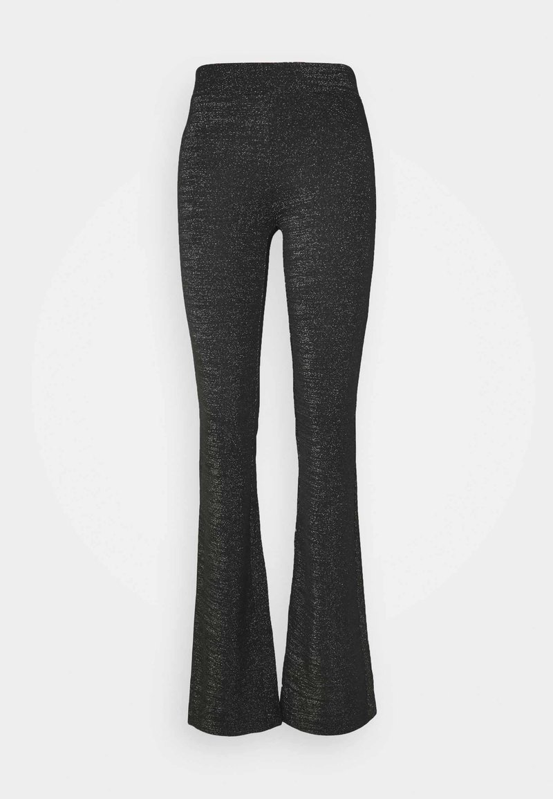 ONLY Tall - ONLPAIGE FLARED PANT - Trousers - black/gliter