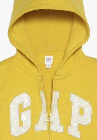 GAP - GIRLS LOGO  - Huvtröja med dragkedja - rainslicker yellow - 4