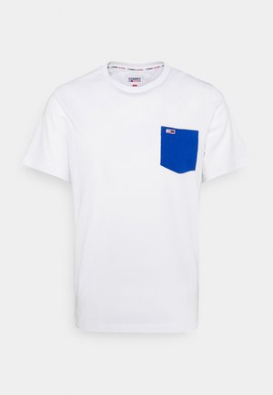 CONTRAST POCKET TEE - Camiseta estampada - white