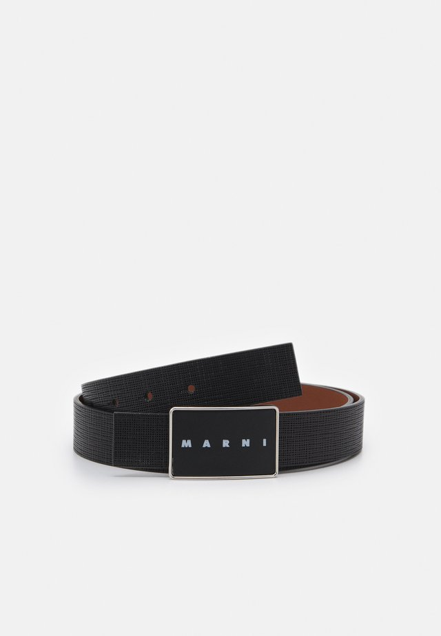 BELT - Belt - black/maroon