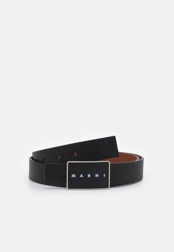 BELT UNISEX - Belt - black/maroon