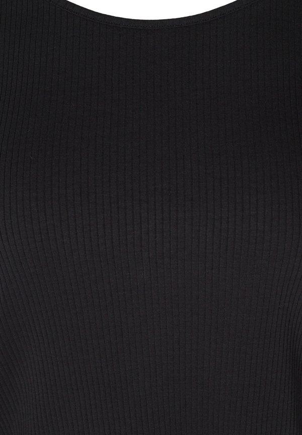 Zizzi WITH PUFF SLEEVES - Bluzka - black/czarny KOFB