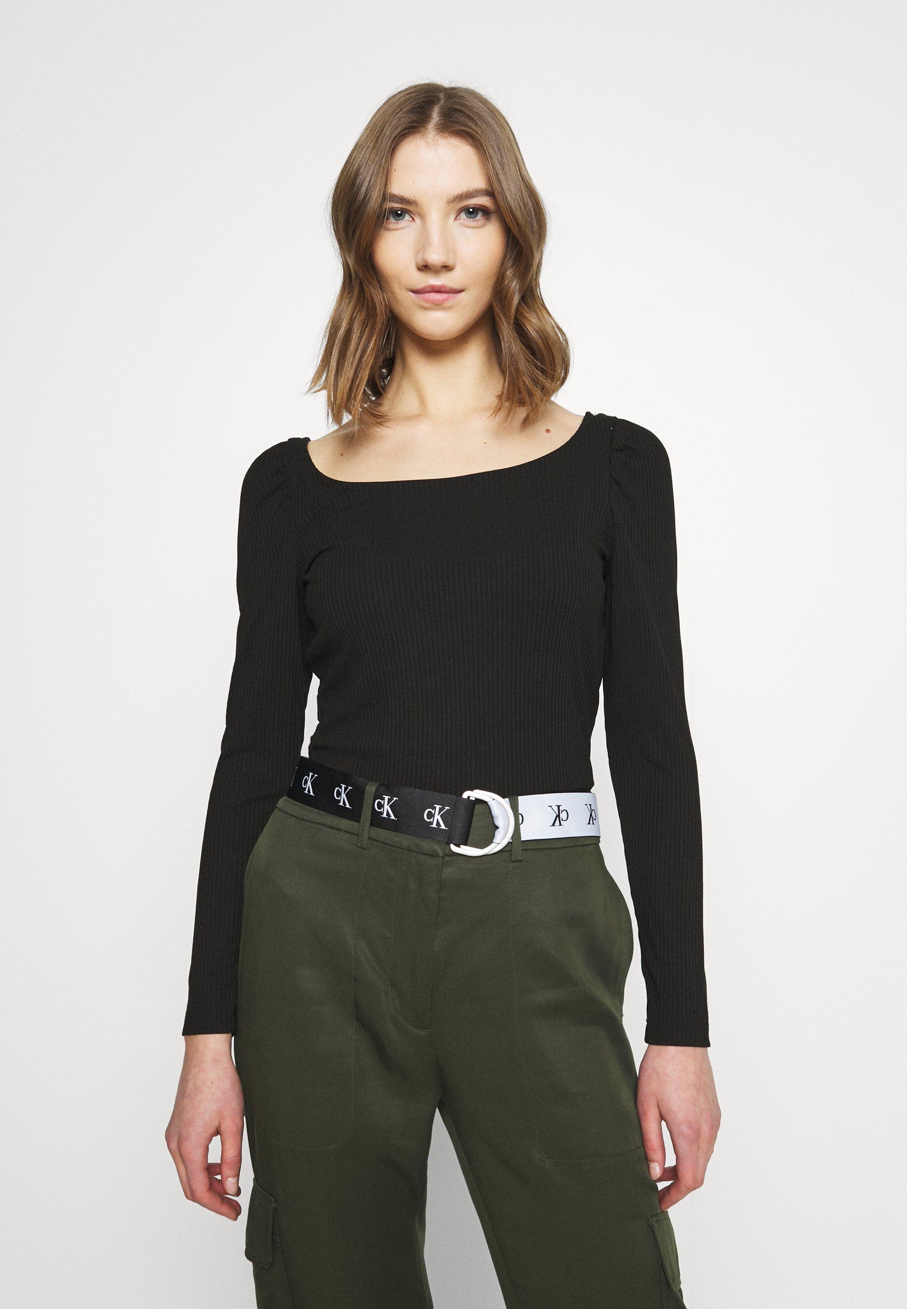 Femme VILANA SQUARE NECK - T-shirt à manches longues