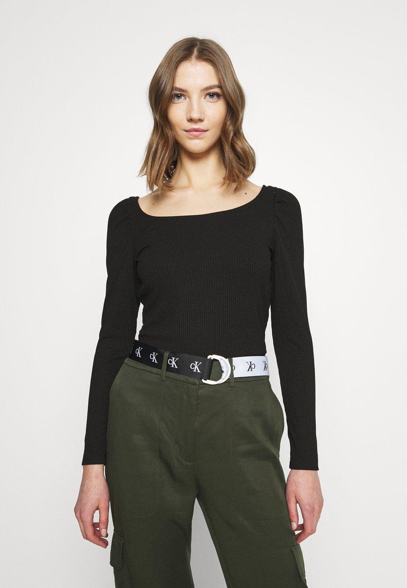 Vila - VILANA SQUARE NECK - Long sleeved top - black