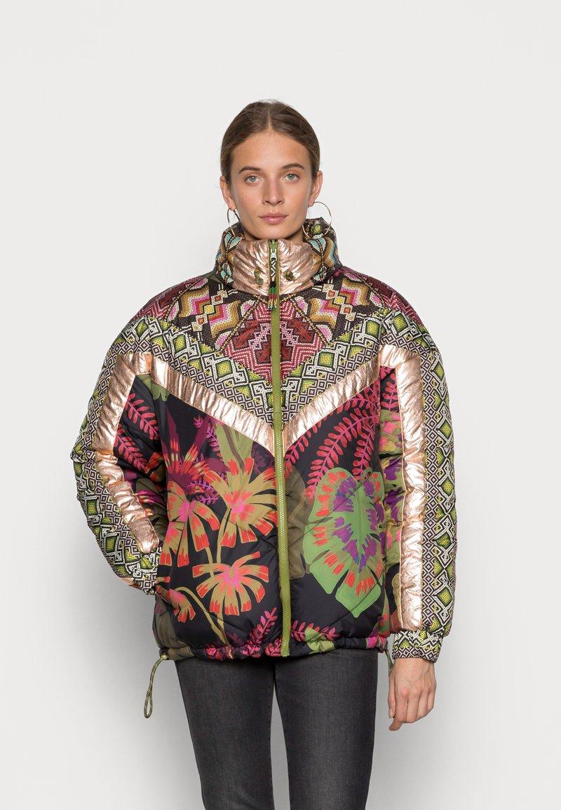 Farm Rio - TROPICAL METALLIC REVERSIBLE PUFFER JACKET - Winter jacket - rauti