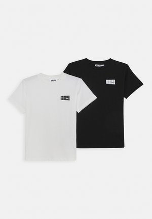 RASMUS 2 PACK - Basic T-shirt - white star